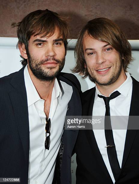Actors Rossif Sutherland and Angus Sutherland attend the premiere of 'I'm Yours' at the Isabel Bader Theatre during the 2011 Toronto International...