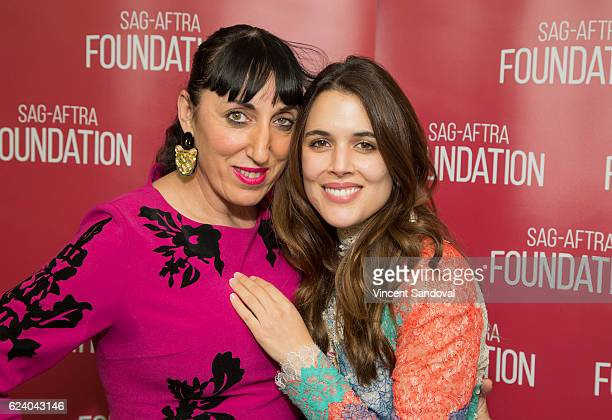 Actors Rossy de Palma and Adriana Ugarte attend SAGAFTRA Foundation's Conversations with 'Julieta' at SAG Foundation Actors Center on November 17...