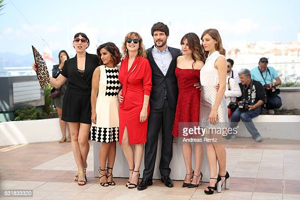 Actors Rossy de Palma Inma Cuesta Emma Suarez Daniel Grao Adriana Ugarte and Michelle Jenner attend the Julieta photocall during the 69th annual...