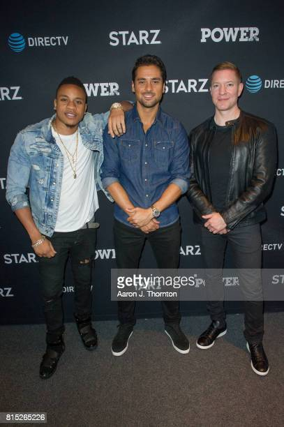 Actors Rotimi Akinosho JR Ramirez and Joseph Sikora attend Power in store appearance at the ATT store on July 15 2017 in Troy Michigan