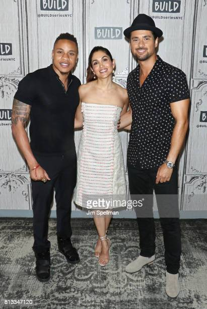 Actors Rotimi Akinosho Lela Loren and JR Ramirez attend Build to discuss Powerat Build Studio on July 12 2017 in New York City