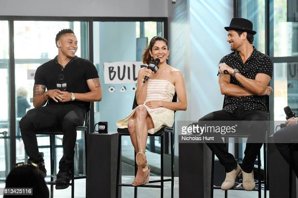 Actors Rotimi Akinosho Lela Loren and JR Ramirez attend Build to discuss 'Power'at Build Studio on July 12 2017 in New York City