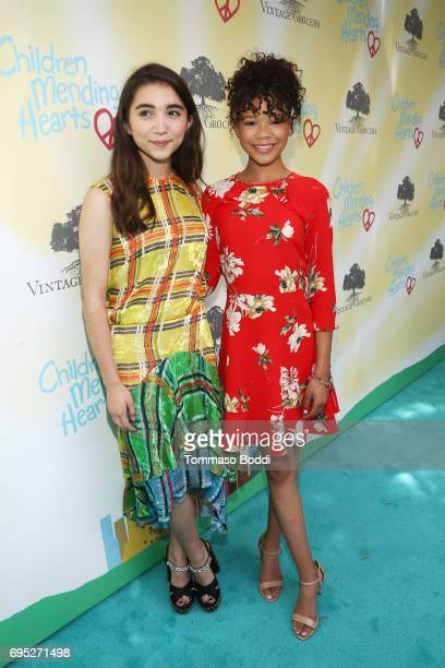 Actors Rowan Blanchard and Storm Reid attend Children Mending Hearts' 9th Annual Empathy Rocks on June 11 2017 in Bel Air California