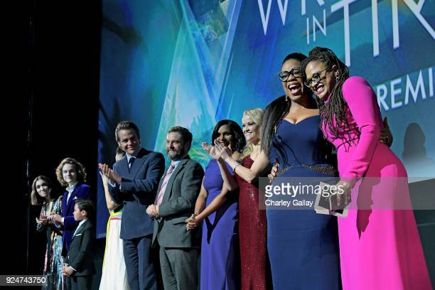 Actors Rowan Blanchard Levi Miller Deric McCabe Chris Pine Zach Galifianakis Mindy Kaling Reese Witherspoon Oprah Winfrey and Director Ava DuVernay...