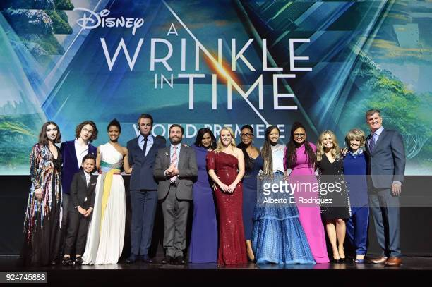 Actors Rowan Blanchard Levi Miller Deric McCabe Gugu MbathaRaw Chris Pine Zach Galifianakis Mindy Kaling Reese Witherspoon Oprah Winfrey Storm Reid...