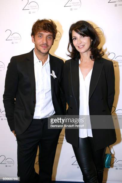 Actors Ruben Alves and Zabou Breitman attend the 2018 L'Oreal UNESCO for Women in Science Awards Ceremony at UNESCO on March 22 2018 in Paris France