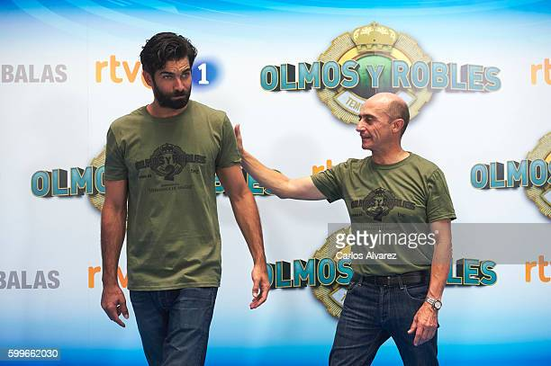 Actors Ruben Cortada and Pepe Viyuela attend Olmos y Robles photocall during FesTVal 2016 Day 2 Televison Festival on September 6 2016 in...