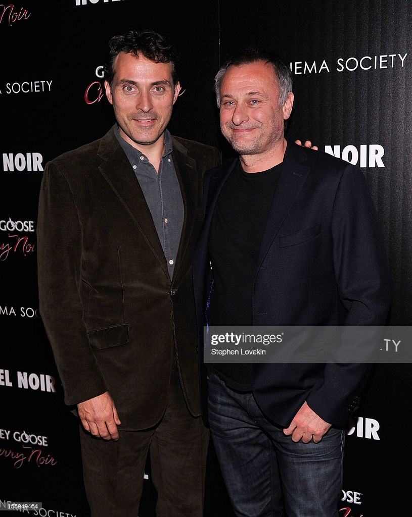 Actors Rufus Sewell and Michael Nyqvist attend the Gato Negro Films & The Cinema Society screening of 'Hotel Noir' at Crosby Street Hotel on November 9, 2012 in New York City.