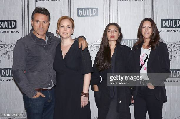 Actors Rufus Sewell Chelah Horsdal Alexa Davalos and Isa Dick Hackett attend the Build Series to The Man in the High Castle at Build Studio on...
