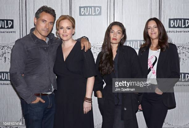 Actors Rufus Sewell Chelah Horsdal Alexa Davalos and Isa Dick Hackett attend the Build Series to 'The Man in the High Castle' at Build Studio on...