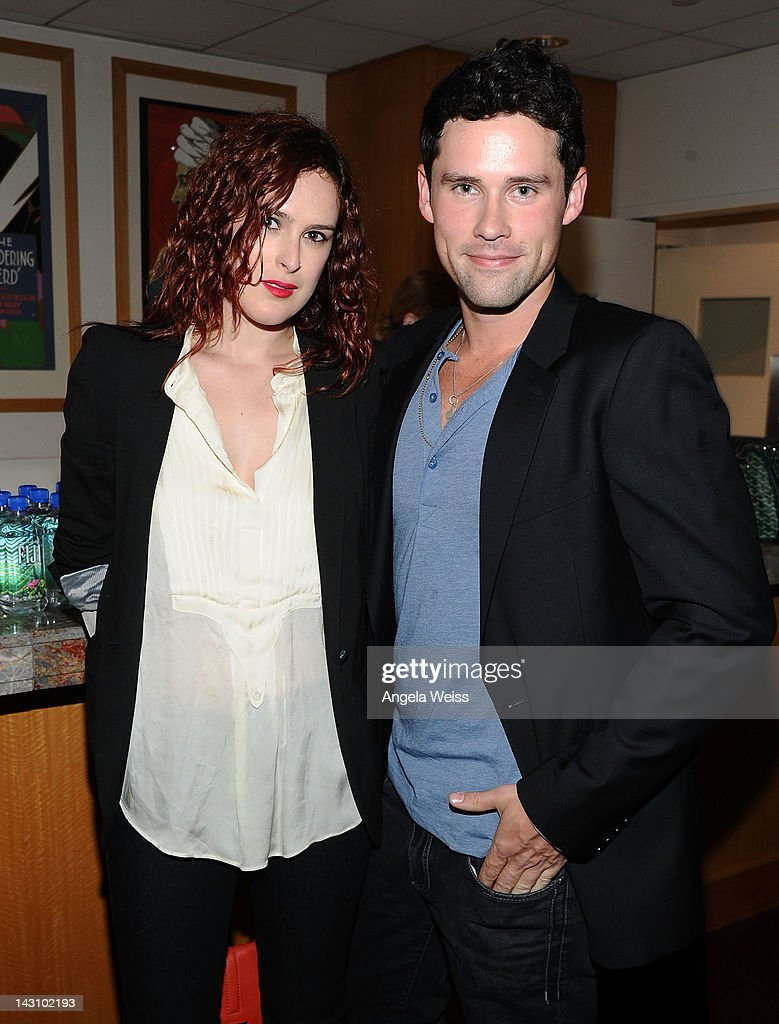Actors Rumer Willis and Ben Hollingsworth attend the 'Black November' screening on April 18, 2012 in Beverly Hills, California.