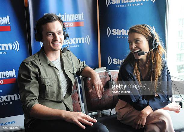 Actors Rupert Friend and Hannah Ware attend SiriusXM's Entertainment Weekly Radio Channel Broadcasts From Comic-Con 2015 at Hard Rock Hotel San Diego...