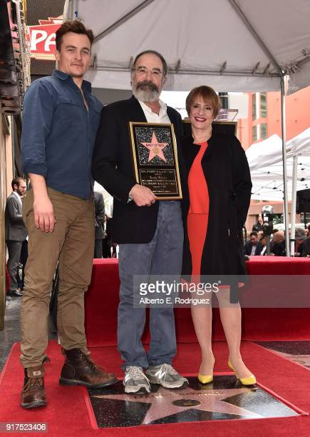 Actors Rupert Friend Mandy Patinkin and Patti LuPone attend a ceremony honoring Mandy Patinkin with the 2629th star on the Hollywood Walk of Fame on...