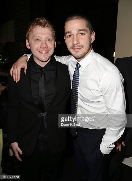 Actors Rupert Grint and Shia LeBeouf attend 'The Necessary Death Of Charlie Countryman' Reception during the 63rd Berlinale International Film...