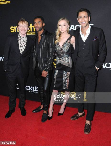 Actors Rupert Grint, Lucien Laviscount, Phoebe Dynevor and Luke Pasqualino attend premiere screening of Crackle's 'Snatch' at Arclight Cinemas Culver...