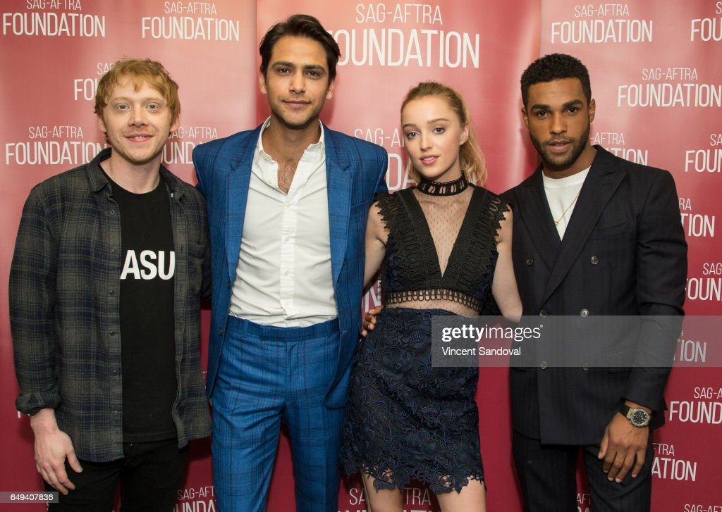 Actors Rupert Grint, Luke Pasqualino, Phoebe Dynevor and Lucien Laviscount attend SAG-AFTRA Foundation's Conversations with 'Snatch' at SAG-AFTRA Foundation Screening Room on March 7, 2017 in Los Angeles, California.