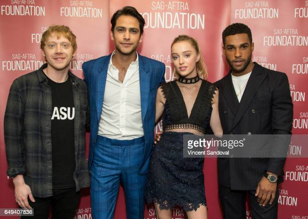 Actors Rupert Grint Luke Pasqualino Phoebe Dynevor and Lucien Laviscount attend SAGAFTRA Foundation's Conversations with 'Snatch' at SAGAFTRA...