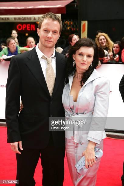 Actors Rupert PenryJones and Dervla Kirwan arrive at the British Academy Television Awards at the Palladium May 20 2007 in London England