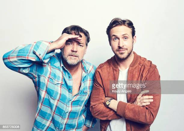 Actors Russell Crowe and Ryan Gosling are photographed for Warner Bros on March 9 2016 in Los Angeles California PUBLISHED IMAGE
