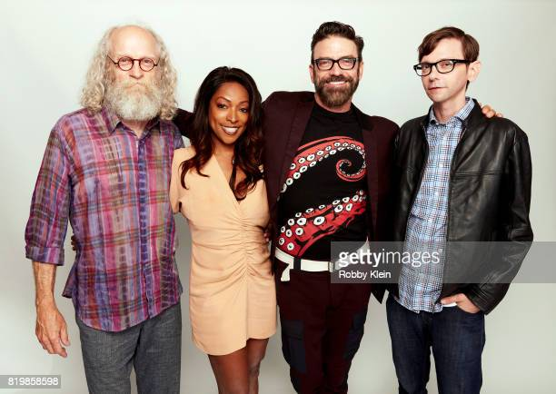 Actors Russell Hodgkinson Kellita Smith Keith Allan and DJ Qualls from Syfy's 'Z Nation' pose for a portrait during ComicCon 2017 at Hard Rock Hotel...