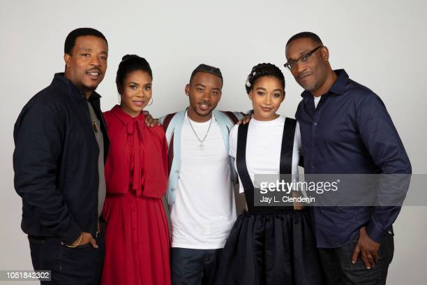Actors Russell Hornsby Regina Hall Algee Smith Amandla Stenberg and director George Tillman Jr from 'The Hate U Give' are photographed for Los...