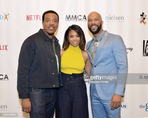 Actors Russell Hornsby Regina Hall and Common discuss their upcoming motion picture 'The Hate You Give' during the 'Diversity in the Media Industry...