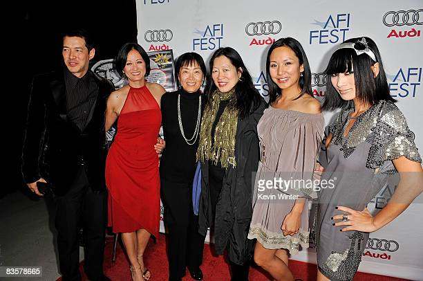 Actors Russell Wong Julia NicksonSoul director Anna Chi AFI FEST Artistic Director Rose Kuo and actors Steph Song and Bai Ling of the film Dim Sum...