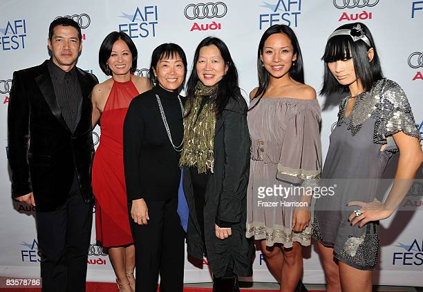 Actors Russell Wong Julia NicksonSoul director Anna Chi AFI FEST Artistic Director Rose Kuo and actors Steph Song and Bai Ling of the film 'Dim Sum...
