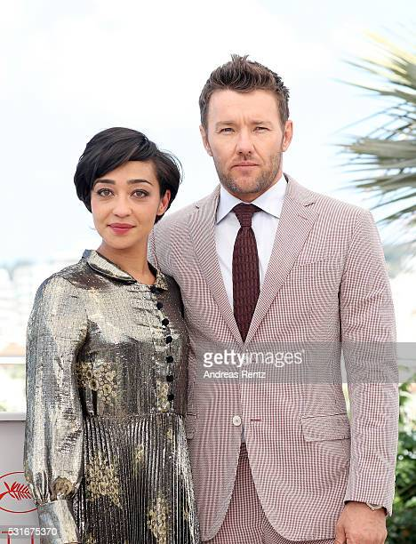 Actors Ruth Negga and Joel Edgerton attend the 'Loving' photocall during the 69th annual Cannes Film Festival at the Palais des Festivals on May 16...