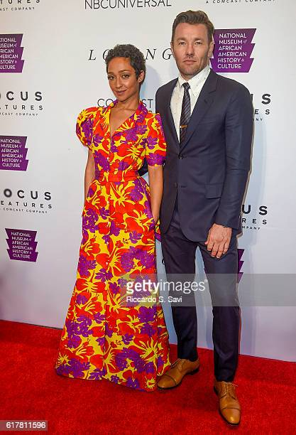 Actors Ruth Negga and Joel Edgerton pose for a photo at the Premiere of the film 'Loving' at Smithsonian National Museum Of African American History...