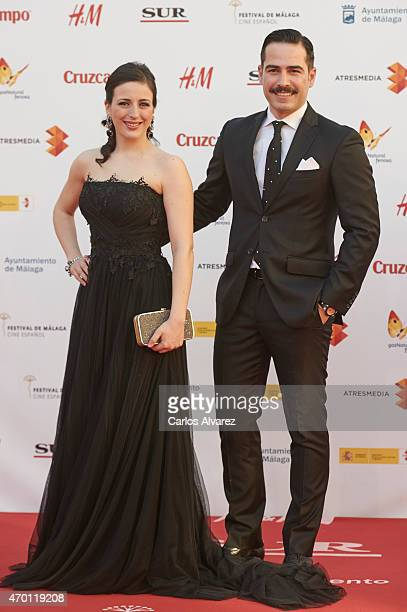 Actors Ruth Nunez and Alejandro Tous attend the 18th Malaga Film Festival opening ceremony at the Cervantes Theater on April 17 2015 in Malaga Spain