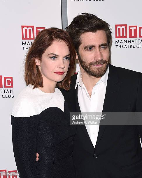 Actors Ruth Wilson and Jake Gyllenhaal attend the Constellations Broadway opening night after party at Urbo NYC on January 13 2015 in New York City