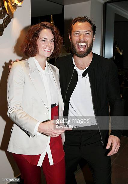 Actors Ruth Wilson and Jude Law attend an after party following Press Night of 'Anna Christie' at the Donmar Warehouse on August 9 2011 in London...