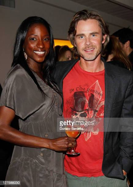 Actors Rutina Wesley and Sam Trammell attends Sunset Cocktails Presented By Leifsdottir on March 12 2011 in Sherman Oaks California