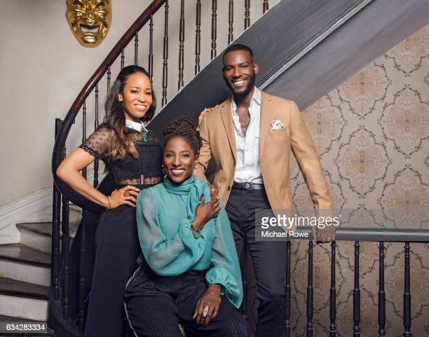 Actors Rutina Wesley Kofi Siriboe and DawnLyen Gardner of the cast Queen Sugar for Essence Magazine on July 1 2016 in New Orleans Louisiana