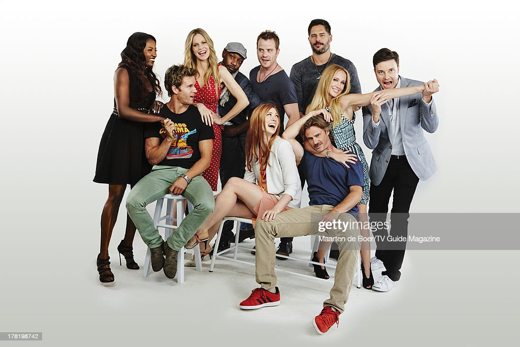 Actors Rutina Wesley, Ryan Kwanten, Kristin Bauer, Nelsan Ellis, Robert Kazinsky, Deborah Ann Woll, Joe Manganiello, Sam Trammell, Anna Camp and Michael McMillian are photographed for TV Guide Magazine on July 20, 2013 on the TV Guide Magazine Yacht in San Diego, California. PUBLISHED IMAGE.