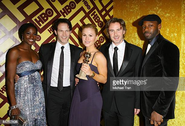 Actors Rutina Wesley Stephen Moyer Anna Paquin Sam Trammell and Nelsan Ellis arrives to the official HBO Golden Globe Awards afterparty held at Circa...