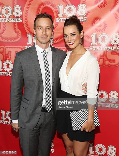 Actors Ryan Carlberg and Erin Cahill attend the 108 Stitches Screening Party Screening Party held at Harmony Gold Theatre on September 10 2014 in Los...
