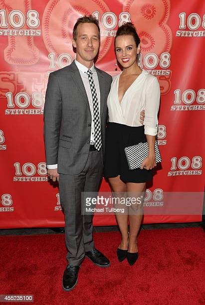 Actors Ryan Carlberg and Erin Cahill attend the Los Angeles premiere of the film '108 Stitches' at Harmony Gold Theatre on September 10 2014 in Los...