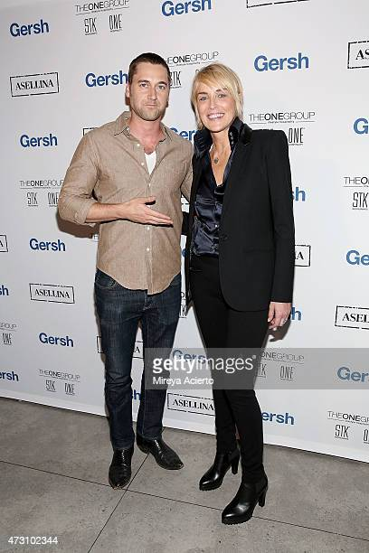 Actors Ryan Eggold and Sharon Stone attend the 2015 Gersh Upfronts Party at Asellina at the Gansevoort on May 12 2015 in New York City