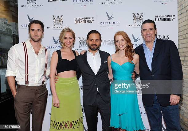 Actors Ryan Eggold Jess Weixler Director Ned Benson Actors Ciaran Hinds and Jessica Chastain arrive at The Disappearance of Eleanor Rigby dinner...