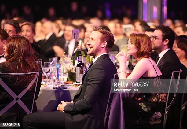 Actors Ryan Gosling and Emma Stone during The 23rd Annual Screen Actors Guild Awards at The Shrine Auditorium on January 29 2017 in Los Angeles...
