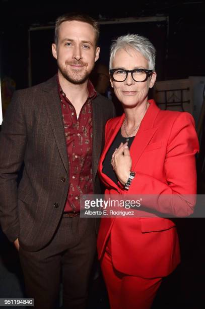 Actors Ryan Gosling and Jamie Lee Curtis attend CinemaCon 2018 Universal Pictures Invites You to a Special Presentation Featuring Footage from its...