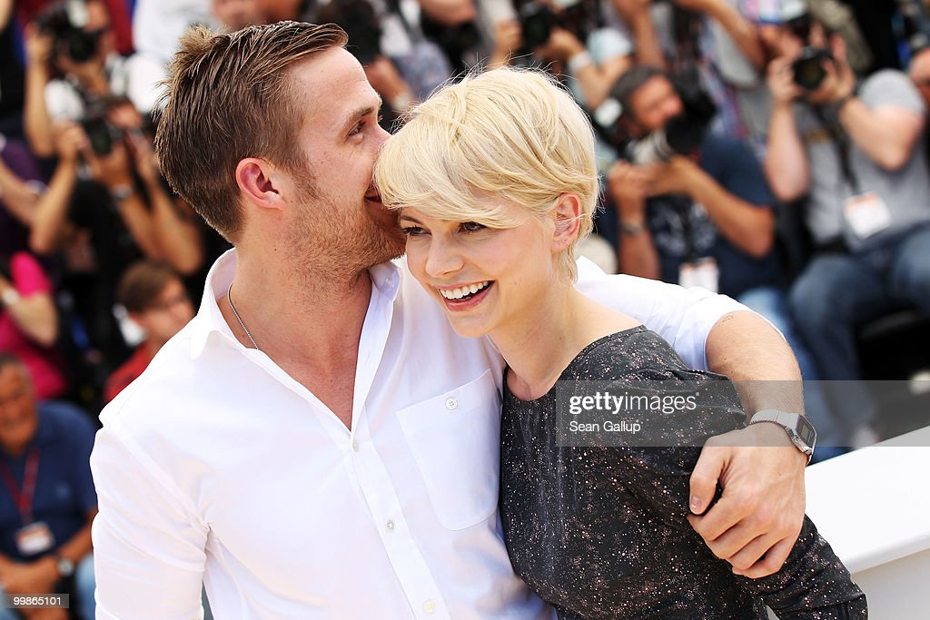 Actors Ryan Gosling and Michelle Williams attend the 'Blue Valentine' Photocall at the Palais des Festivals during the 63rd Annual Cannes Film Festival on May 18, 2010 in Cannes, France.