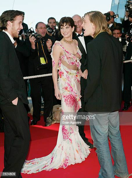 Actors Ryan Gosling Sandra Bullock and Michael Pitt arriving at the 'Murder By Numbers' screening during the 55th Cannes Film Festival in Cannes...