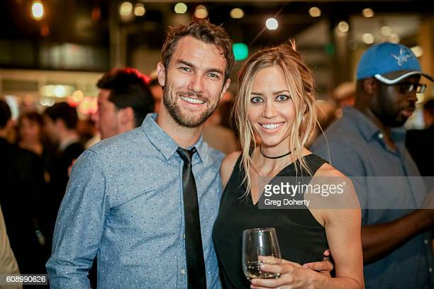 Actors Ryan Gunnarson Aqueela Zoll attend the Premiere Of Studio 71's 'Rush Inspired By Battlefield' after party at Stella Barra Pizzeria on...
