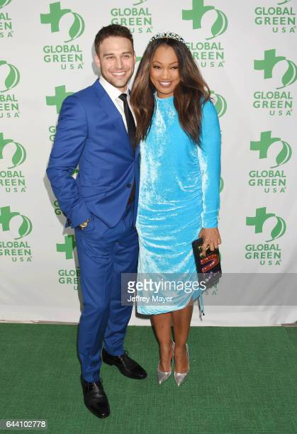 Actors Ryan Guzman and Garcelle Beauvais arrive at the 14th Annual Global Green PreOscar Gala at TAO Hollywood on February 22 2017 in Los Angeles...