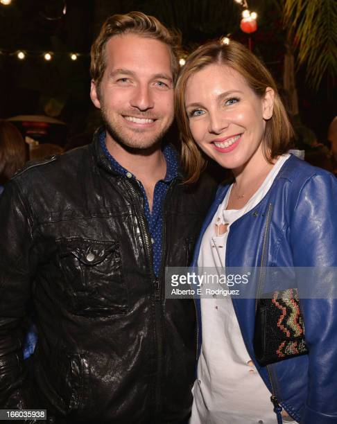 Actors Ryan Hansen and June Diane Raphael attend the Season 3 premiere of Paramount's Insurge Pictures' Burning Love Burning Down The House at The...