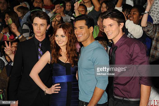 Actors Ryan Kelley Galadriel Stineman Mario Lopez and Nathan Keyes arrive at the Los Angeles Premiere of Cartoon Network's 'Ben 10 Alien Swarm' at...