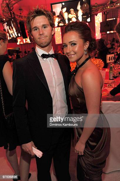 WEST HOLLYWOOD CA MARCH 07 *EXCLUSIVE ACCESS PREMIUM RATES APPLY* Actors Ryan Kwanten and Hayden Panettiere attend the 18th Annual Elton John AIDS...